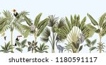 tropical vintage wild animals ... | Shutterstock .eps vector #1180591117