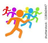 group of symbolic human figures ... | Shutterstock . vector #118060447
