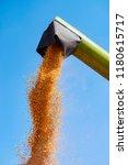 combine unloader pouring ... | Shutterstock . vector #1180615717