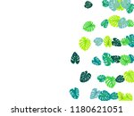 teal green tropical jungle... | Shutterstock .eps vector #1180621051