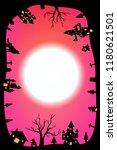 silhouette halloween night... | Shutterstock .eps vector #1180621501
