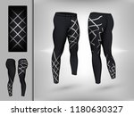 visual drawing of model pants... | Shutterstock .eps vector #1180630327