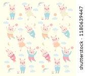 rabbit happy vector | Shutterstock .eps vector #1180639447