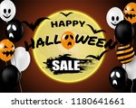 happy halloween sale . design... | Shutterstock .eps vector #1180641661