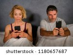 young attractive couple using...   Shutterstock . vector #1180657687