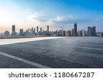 panoramic skyline and modern... | Shutterstock . vector #1180667287