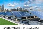 solar and modern city skyline  | Shutterstock . vector #1180669351