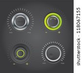 volume knobs with green lights | Shutterstock .eps vector #118067155