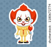 pennywise vector illustration... | Shutterstock .eps vector #1180672774