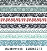 retro lines set | Shutterstock .eps vector #118068145
