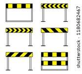 road barriers  under... | Shutterstock .eps vector #1180682467