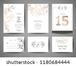 luxury wedding save the date ... | Shutterstock .eps vector #1180684444