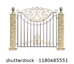 Wrought Fence With Pillar  In...