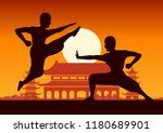 chinese boxing kung fu martial... | Shutterstock .eps vector #1180689901