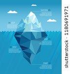 iceberg realistic under water... | Shutterstock .eps vector #1180691971
