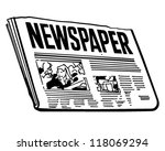 newspaper   retro clipart... | Shutterstock .eps vector #118069294
