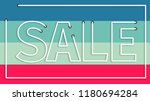 sale realistic sign... | Shutterstock .eps vector #1180694284