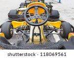 backside joystick of go kart | Shutterstock . vector #118069561