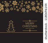 vector image of merry christmas ...   Shutterstock .eps vector #1180696144