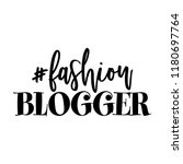fashion blogger   beautiful... | Shutterstock .eps vector #1180697764