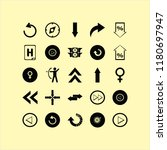 arrow vector icons set. with... | Shutterstock .eps vector #1180697947
