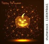 happy halloween. a golden... | Shutterstock .eps vector #1180698661