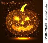 happy halloween. a golden... | Shutterstock .eps vector #1180698667