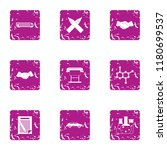 chemical chaos icons set.... | Shutterstock .eps vector #1180699537