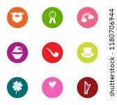evening leisure icons set. flat ...   Shutterstock .eps vector #1180706944