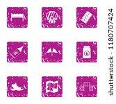 severe preparation icons set.... | Shutterstock .eps vector #1180707424
