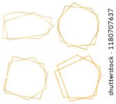 gold collection of geometrical... | Shutterstock . vector #1180707637