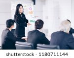 analyzing meeting group... | Shutterstock . vector #1180711144
