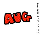 cartoon doodle month of august | Shutterstock . vector #1180712077