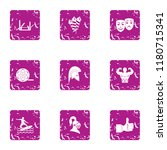 narrative icons set. grunge set ... | Shutterstock .eps vector #1180715341