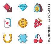 gambling establishment icons...   Shutterstock .eps vector #1180715551