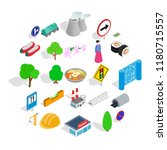 wayside icons set. isometric... | Shutterstock .eps vector #1180715557