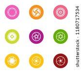 shutter icons set. flat set of... | Shutterstock .eps vector #1180717534