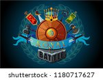 video game vector sign. royal... | Shutterstock .eps vector #1180717627