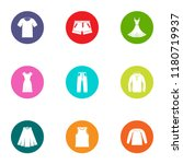leather apparel icons set. flat ... | Shutterstock .eps vector #1180719937