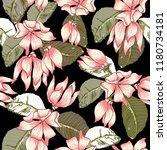 seamless pattern ylang ylang... | Shutterstock .eps vector #1180734181