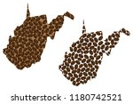 west virginia  united states of ...   Shutterstock .eps vector #1180742521