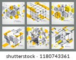 isometric abstract yellow... | Shutterstock .eps vector #1180743361