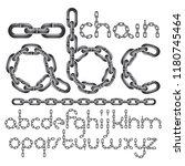 vector font  trendy typescript... | Shutterstock .eps vector #1180745464
