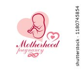 vector embryo emblem isolated... | Shutterstock .eps vector #1180745854
