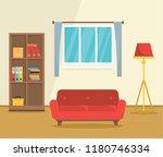 red sofa interior concept... | Shutterstock .eps vector #1180746334
