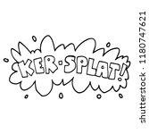 line drawing cartoon wording... | Shutterstock . vector #1180747621