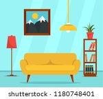 living room interior concept...   Shutterstock .eps vector #1180748401