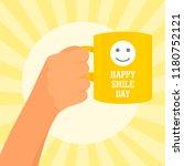 sunny smile day concept... | Shutterstock .eps vector #1180752121