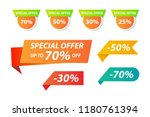 vector collection of special... | Shutterstock .eps vector #1180761394