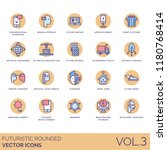 futuristic rounded icon set.... | Shutterstock .eps vector #1180768414